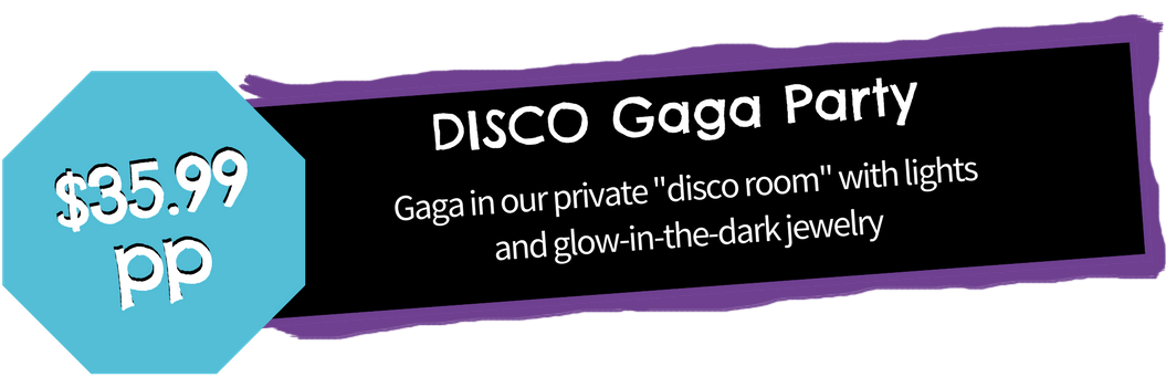 disco gaga birthday party tween